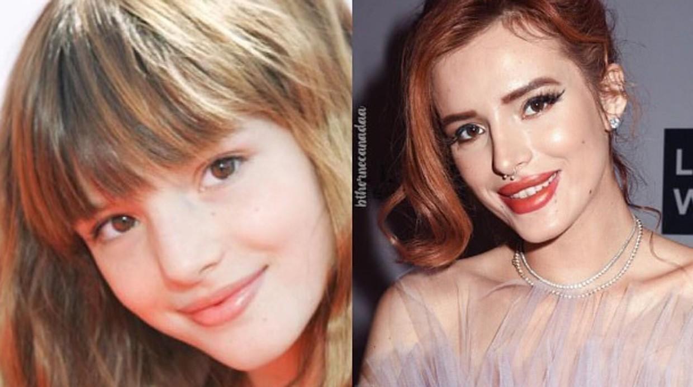 Слева направо: Белла Торн в детстве и сейчас
