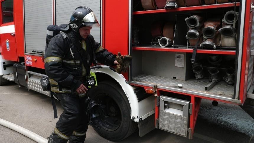 Пожар произошел настройке инфекционной больницы вНовой Москве