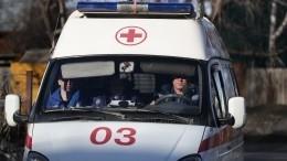 ВКузбассе карета «скорой помощи» попала вДТП иперевернулась