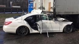Подросток управлял автомобилем Mercedes, вкотором погиб блогер Петель