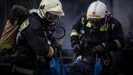 Видео сместа пожара вдоме престарелых вМоскве