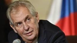 Президент Чехии считает глупостью снос памятника маршалу Коневу вПраге