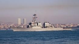 Видео: ракетный эсминец ВМС США вошел вакваторию Черного моря