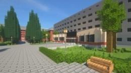 Новосибирские студенты построили копию своего университета вигре Minecraft