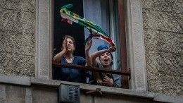 Видео: вечеринка врежиме самоизоляции по-итальянски