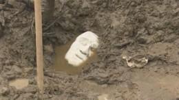 Тайну найденной строителями мраморной скульптуры пытаются разгадать вПетербурге