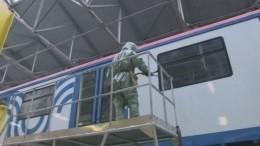 Военнослужащие продезинфицировали вагоностроительный завод вПетербурге