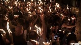 Благодатный огонь доставлен вМоскву изХрама Гроба Господня