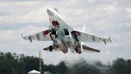 Видео перехвата российским Су-35 американского самолета-разведчика