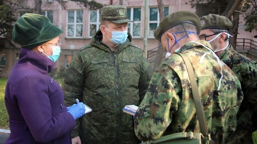 Коронавирус диагностирован у874 российских военнослужащих