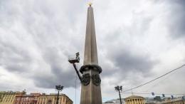 ВПетербурге реставраторы начали генеральную уборку памятников перед праздником Победы