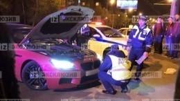 Розовый BMW устроил ДТП вКраснодаре— видео смоментом аварии
