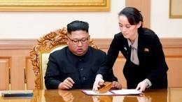 Ким Чен Ына, появившегося напублике впервые за20 дней, сопровождала сестра