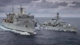Американцы опубликовали фото кораблей НАТО вБаренцевом море
