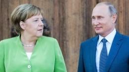 Путин иМеркель обменялись поздравлениями всвязи 75-й годовщиной освобождения мира отфашизма