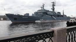 Корабли Балтийского флота прибыли вПетербург врамках празднования 75-летия Победы вВОВ