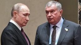 Путин обсудил сглавой «Роснефти» Сечиным необходимые отрасли меры поддержки