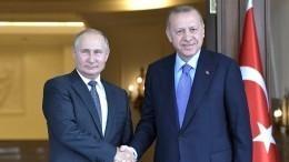 Путин иЭрдоган обсудили борьбу спандемией COVID-19