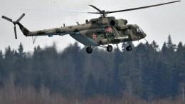 Видео сместа жесткой посадки вертолета Ми-8 вПодмосковье