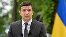 Украинские националисты устроили акцию удома Зеленского вКиеве— видео
