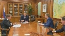 Проекты развития регионов представили губернаторы навстрече справительством