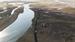 Заблокированных наострове из-за паводка туристов спасли вКрасноярском крае