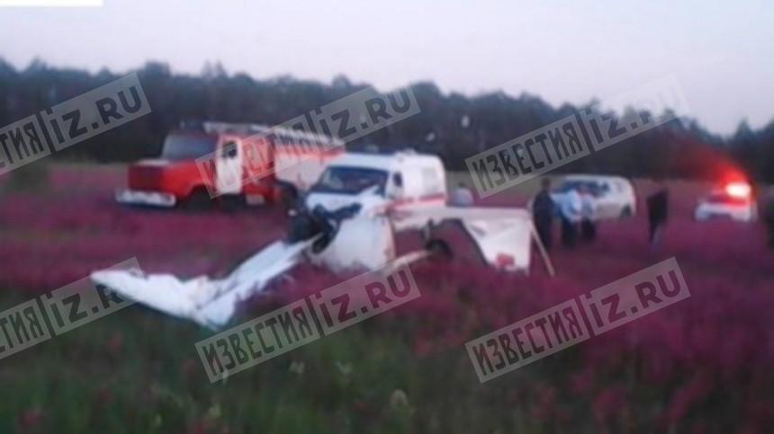 Названа предварительная причина крушения самолета под Рязанью