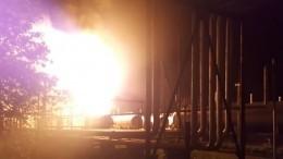 Режим ЧСввели из-за пожара нагазоперерабатывающей станции вКазани