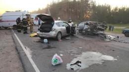 Три человека погибли вДТП с«перевертышем»— фото