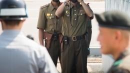 Минобороны КНДР обнародовало кадры подрыва офиса связи вКэсоне