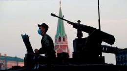 НаКрасной площади состоялась ночная репетиция Парада Победы