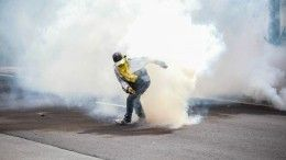 Полиция применила слезоточивый газ против демонстрантов вЧерногории