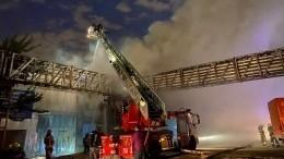 Видео пожара наскладе рядом сгазовой котельной вМоскве