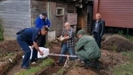 Натерритории храма вЛенобласти найдены останки связанного человека