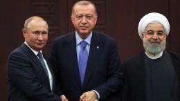 Путин провел видео-переговоры слидерами Турции иИрана