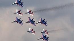 «Русские витязи» впервые провели полет натрех типах самолетов ведином строю