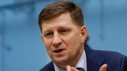 Губернатора Хабаровского края, подозреваемого ворганизации покушения наубийство, доставят вМоскву