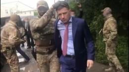 Видео задержания губернатора Хабаровского края, подозреваемого ворганизации покушения наубийство