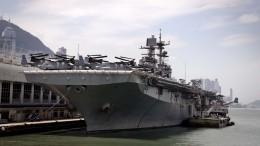 Видео: несколько моряков пострадали при пожаре накорабле ВМС США