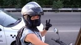 Шок-видео: пьяный водитель протаранил колонну мотоциклистов, девушка-байкер погибла