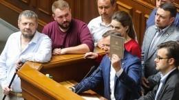 Закрепление статуса Донбасса вКонституции наУкраине назвали неприемлемым