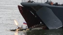 Освобождение захваченных пиратами судов показали нарепетиции морского парада вКалининграде