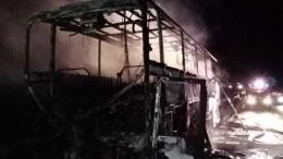 Рейсовый автобус слюдьми вспыхнул после столкновения с«Газелью» под Липецком