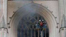 Названа предварительная причина пожара вготическом соборе воФранции