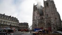 Готический собор вНанте подожгли втрех местах