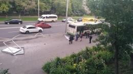 Первые кадры сместа смертельного ДТП савтобусом наюго-востоке Москвы