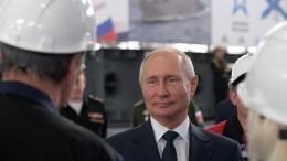 Путин заложил новые десантные корабли вКерчи— видео