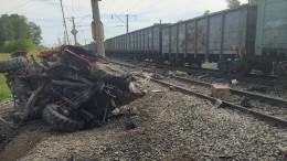 ВАлтайском крае пожарная машина врезалась втоварняк— Видео