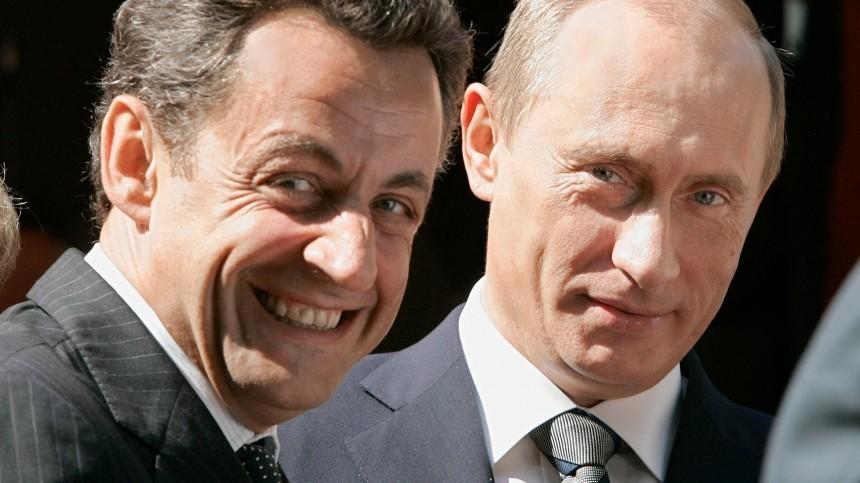 Саркози устроил битву взглядов сПутиным из-за последней шоколадки насаммите G8