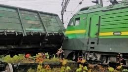 Видео: Очевидцы рассказали осходе поездов срельсов наюге Петербурга